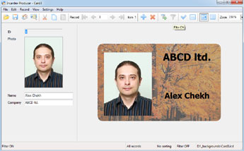 ID photo in Incardex software