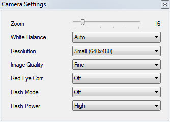 Canon Powershot camera settings control