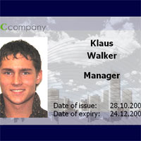 ID photo with inCard software